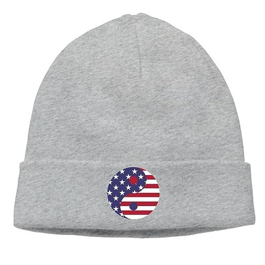 8f4b0414932 The USA Flag Art Printed Plain Skullies Beanie toboggan Hat Cap ...