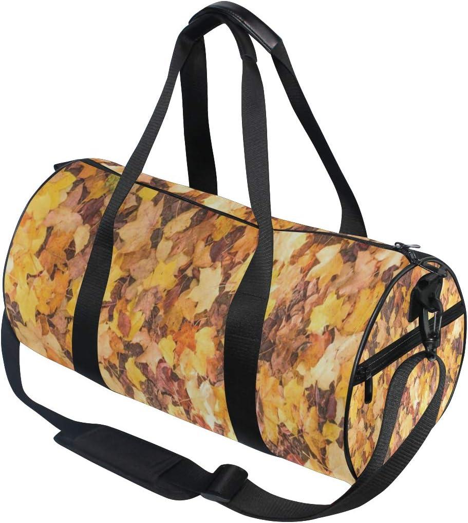 Duffel Bags Autumn Leaves Womens Gym Yoga Bag Small Fun Sports Bag for Men