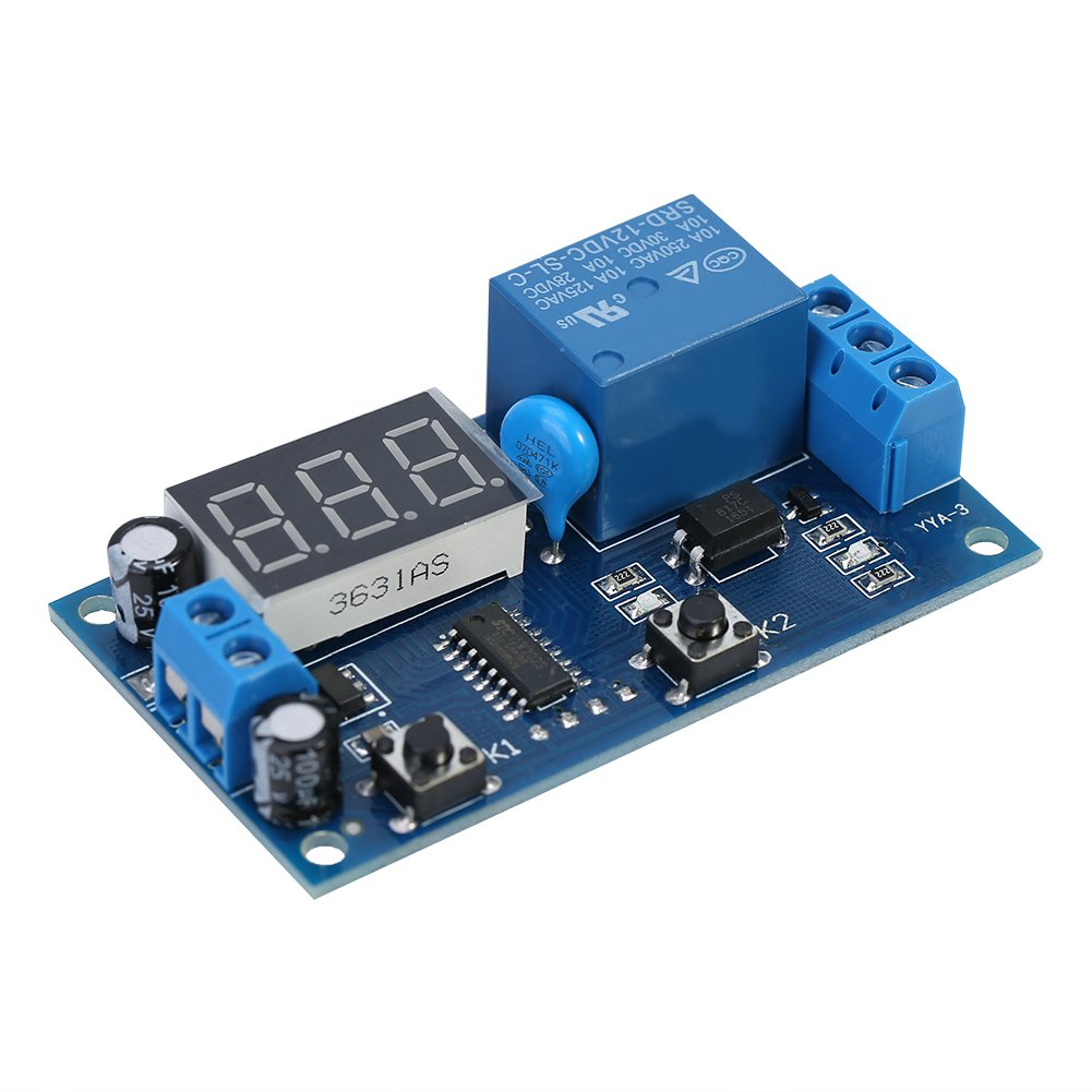 DC 12V Infinite Cycle Delay Timing Timer Relay ON OFF Switch Loop Module with LED Display