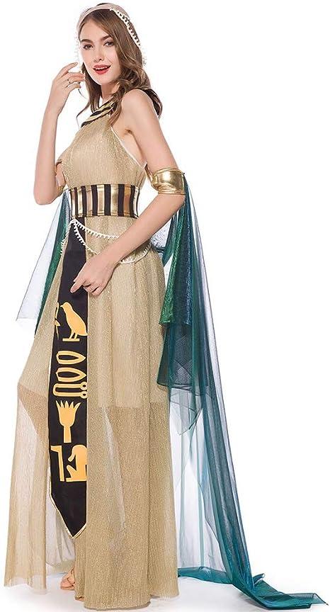 PAOFU-Disfraz de Cleopatra para Adultos Antiguo Egipto Princesa ...
