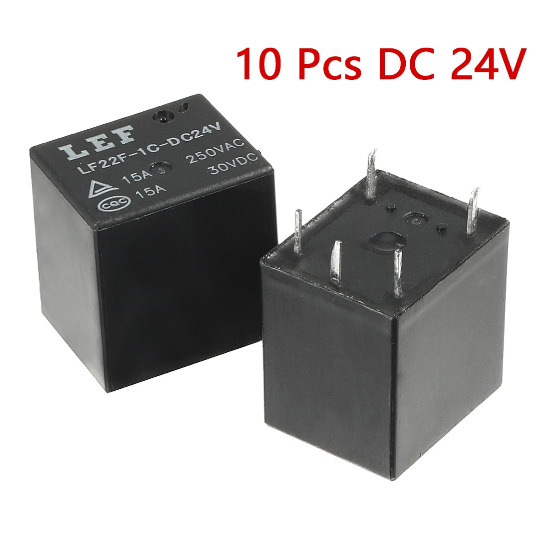 Uxcell 10 Pcs Dc 9v Coil 10a Spst 5 Pin Electromagnetic Hfd205 Dpdt 5v 2a Dip Relay Circuit Diagram Relays Pcb Type Jqc 3f Automotive