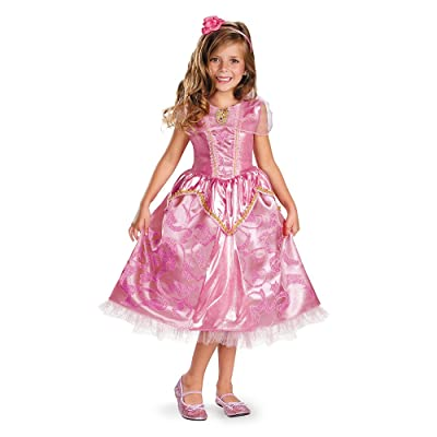 Disney's Sleeping Beauty Aurora Sparkle Deluxe Girls Costume, 7-8: Toys & Games