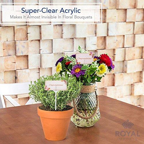 Cardettes for flower arrangements plastic floral