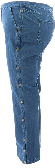 GILI Dual Stretch Side Button Flare Jeans Medium Wash NWT A350330 LW