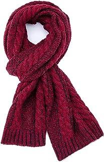 Men's Winter Warm Scarf Knit Yarn Scarf Fashion Multicolor Scarf Men in an Elegant Gift (Color : Black)