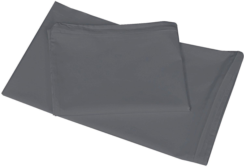 Utopia Bedding Premium Cotton Zippered Pillow Cases - 2 Pack (Queen, Grey) - Elegant Double Hemmed Stitched Pillow Encasement by Utopia Bedding (Image #2)