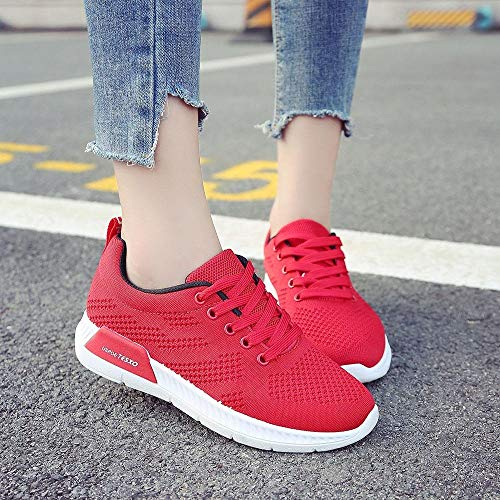 Respirant Femmes Nette Running Chaussure Surface Loisirs Voyage Darringls Confortable Sport Course Lettre Chaussures Rouge De Les Femme Baskets AwZnqxfYg