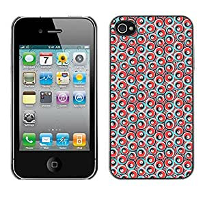 PatternViking PC Polycarbonate Aluminium Back Case Cover Apple iPhone 4 / 4S ( cute circles )