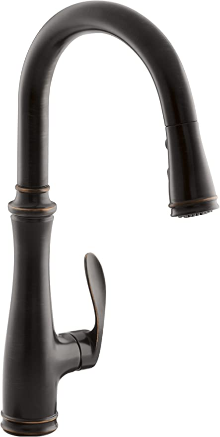 Kohler Oil-rubbed Bronze Kitchen Faucet with Three Function Spray Head technique