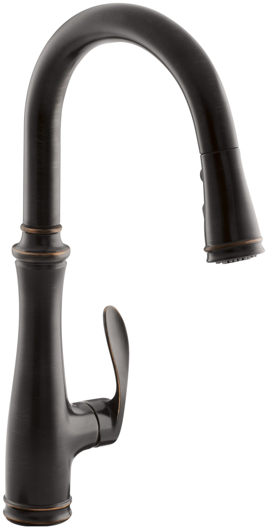 Kohler K-560-2BZ Bellera Pull-Down Kitchen Faucet, Oil Rubbed Bronze