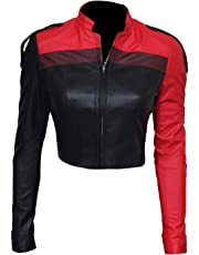 Aus Eshop Womens Harley Quinn Injustice 2 Gods Among Us Costume Leather Jacket