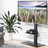 FITUEYES Swivel TV Stand with Mount Height Adjustable for 50-80 inch,TT208001MB