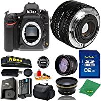 Great Value Bundle for D750 DSLR – 50MM 1.8D + 32GB Memory + Wide Angle + Telephoto Lens + Case