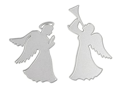 Amazoncom Taloyer 2pcs Metal Cutting Dies Creative Angels