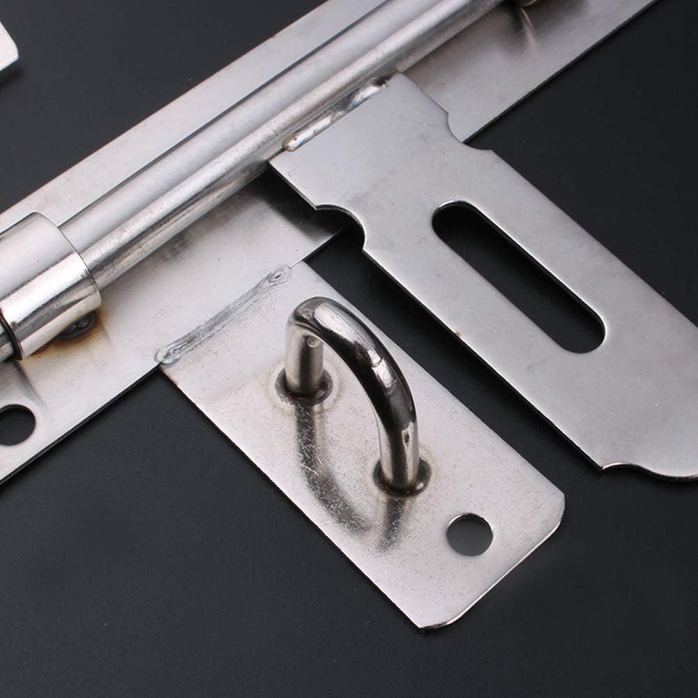 SDGDFXCHN 1 pcs en Acier Inoxydable Gate Baril Slide Bolt Lock Latch de Porte Robuste 8 Pouces