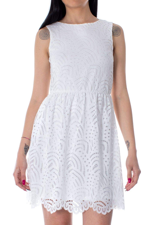 Only Women's 15173867WHITE White Polyamide Dress