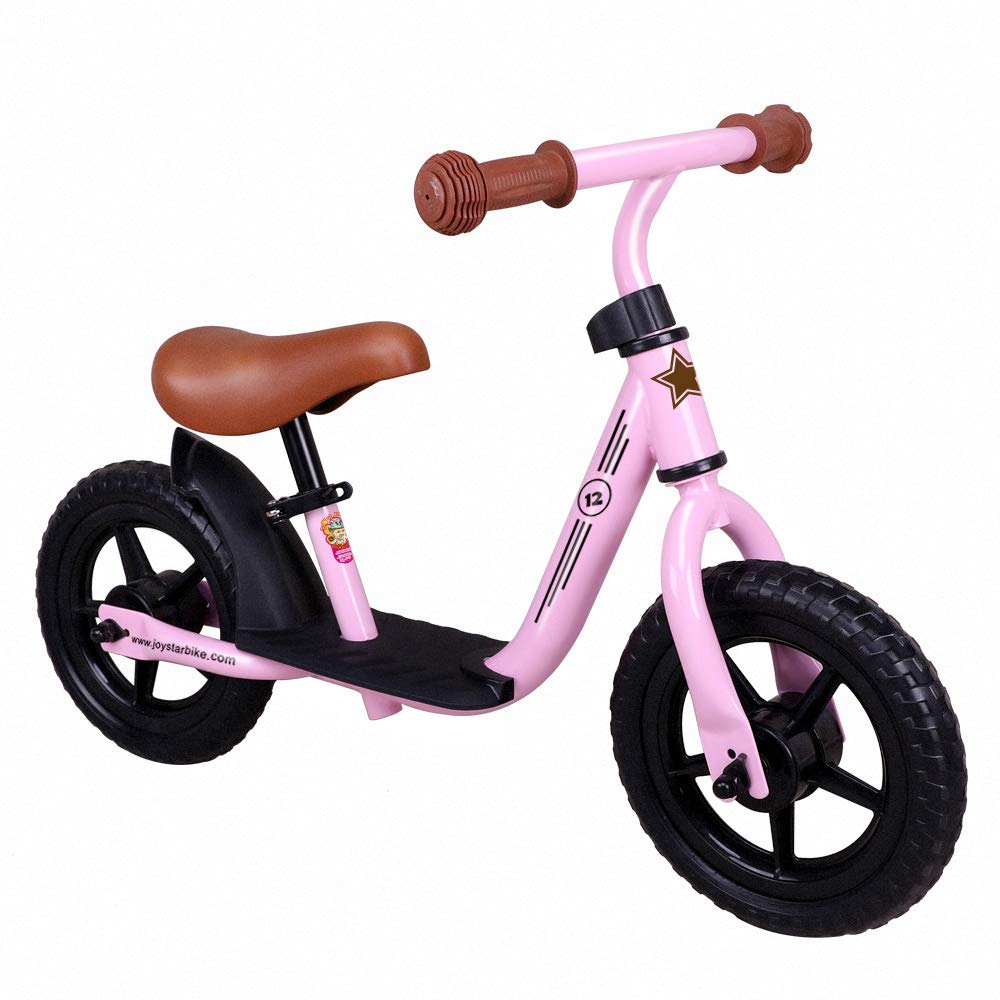 JOYSTAR Balance Bike with Footrest for 1-5 Years Boys & Girls, 10'' & 12 Adjustable Glider Bike for Kids, Green Blue Pink