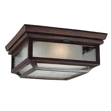 outdoor flush mount light fixtures feiss ol10613htcp 2light outdoor flush mount light fixture