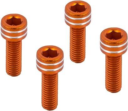 15.08//20//25 Bunte Aluminium Flach Schrauben Flachsechskant Senkkopf 10Pcs,M5,15mm Schwarz 10Pcs Schrauben Bolzen eloxiert Farbe M5 M6