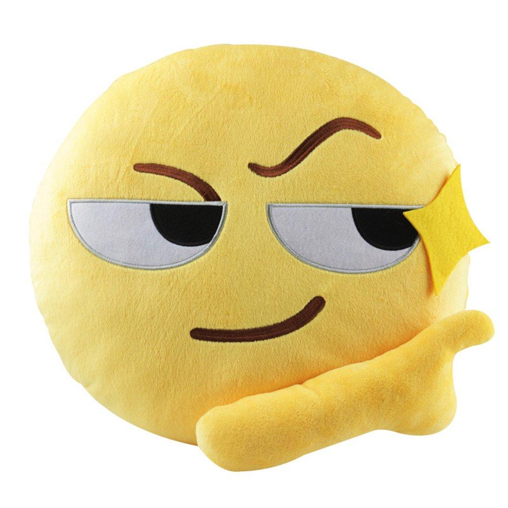 Anone 35 cm lindo emoji emoticon suave de almohada cojín de peluche