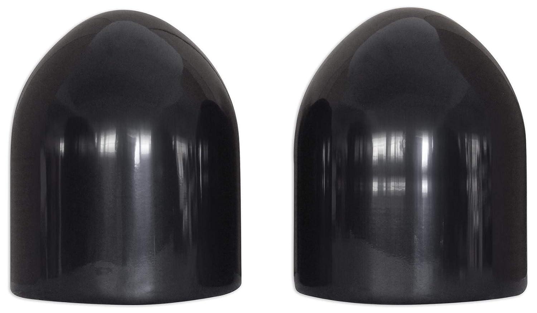 Pair Rockville MAC90B 8 Black Aluminum Wakeboard Tower Speaker Pod Enclosures