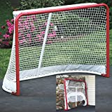 EZGoal Hockey Folding Pro Goal, 2-Inch, Red/White