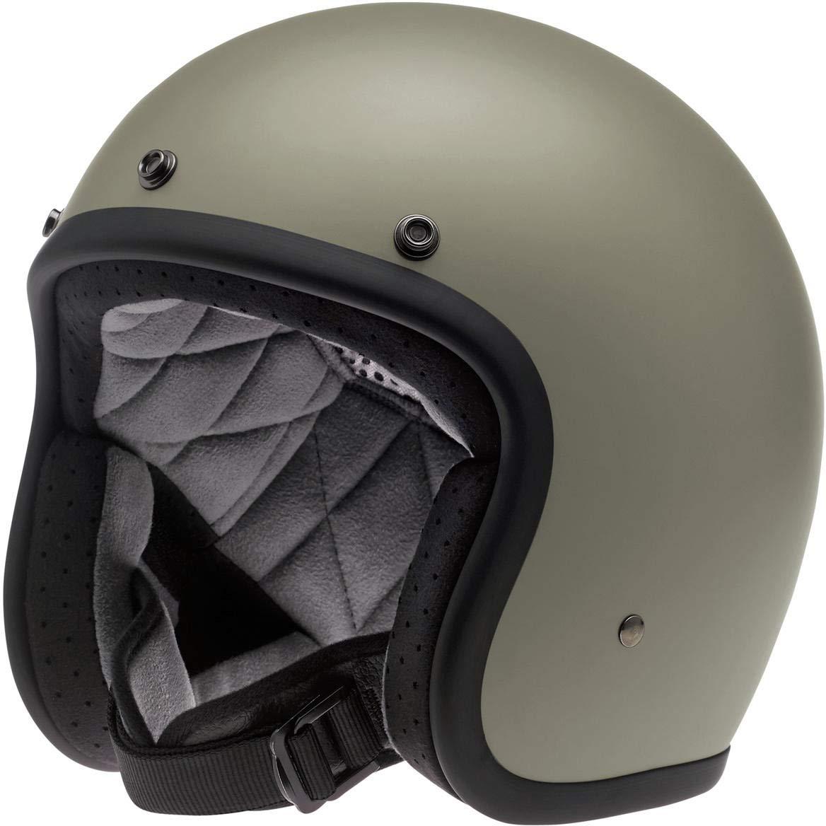 BH-SIL-MF-DOT-XLG Brite Silver Metal Flake, X-Large Biltwell Unisex-Adult Open face Bonanza 3//4 Helmet