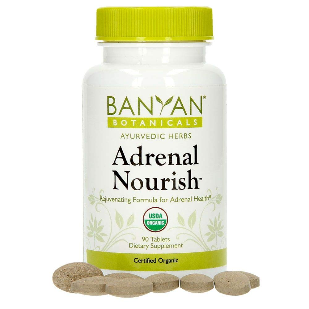 Banyan Botanicals Adrenal Nourish - USDA Certified Organic - 90 Tablets - Balancing Blend for Adrenal Health & Rejuvenation*