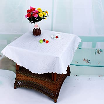 Mariage Blanc Rond Flora Table Traiteur Nappe Housse De Table