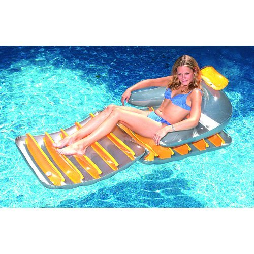 Inch Folding Lounger Yellow Colors