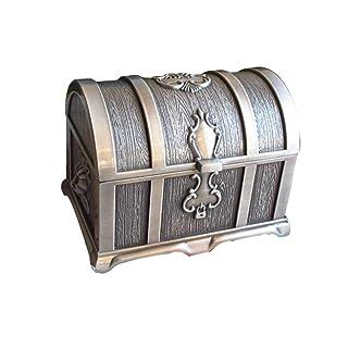 TOYMYTOY Alloy Vintage Pirate Treasure Box Collectibles Jewelry Box Organizzatore di immagazzinaggio Trinket Keepsake