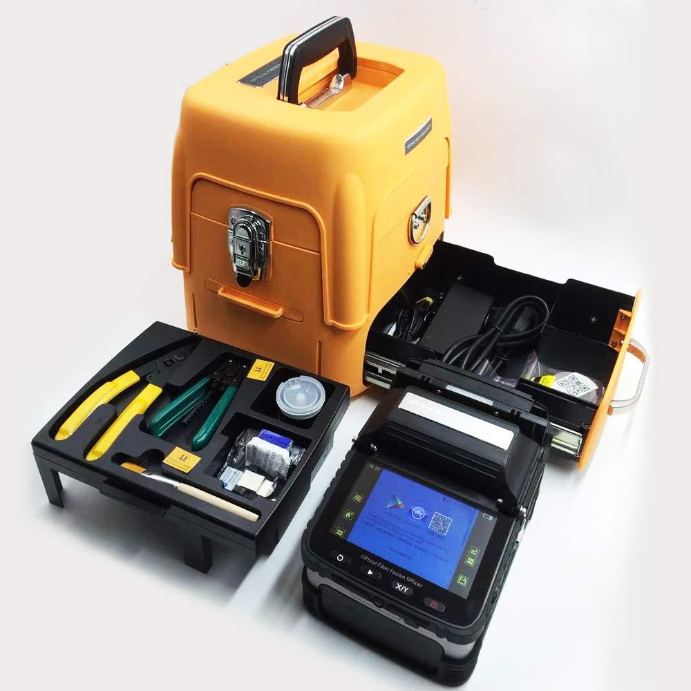 D YEDEMC SM&MM Máquina de soldadura óptica automática de fibra óptica de fusión de empalme Ai-7 y cuchilla de fibra: Amazon.es: Bricolaje y herramientas