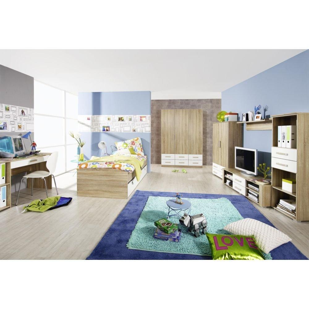 Kinderzimmer 6-teilig Jugendzimmer Bett Schreibtisch Kleiderschrank Regal