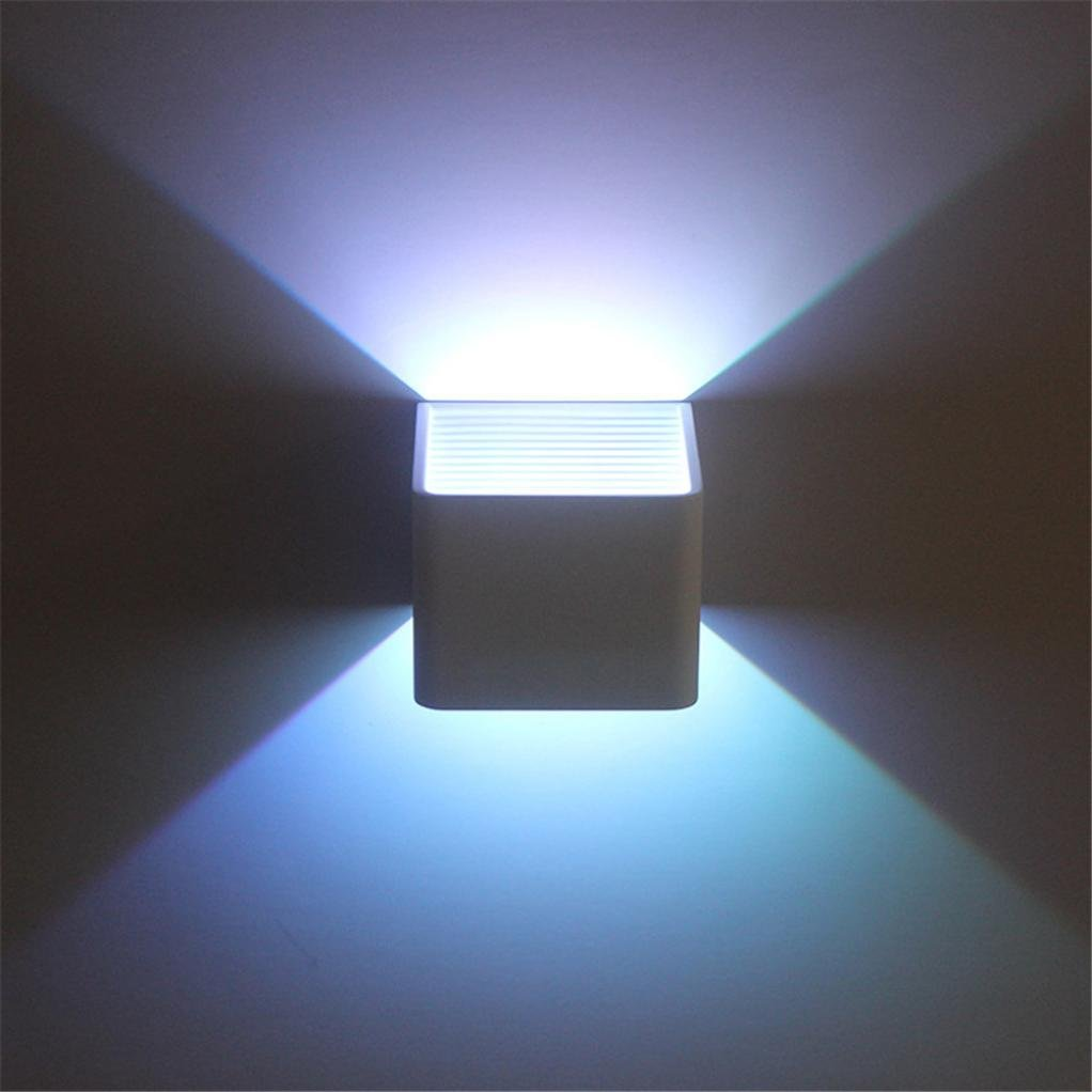 STRIR 3W LED Apliques de Pared Lamparas de Pared con RGB colorido Universal Luces de control remoto para Decoraci/ón de Casa Jard/ín de Lluminaci/ón de Exterior y Lluminaci/ón de Interior