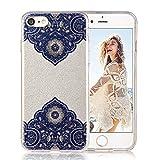 "iPhone 7 case, iPhone 8 case, COSANO Premium Quality,Henna Mandala Floral Case [Hard PC Back + Soft TPU Bumper] Fashion Luxury[Ultra thin]Hybrid Sparkling Shiny Glitter case for Apple iPhone 7/8 (4.7"")(Henna 7)"