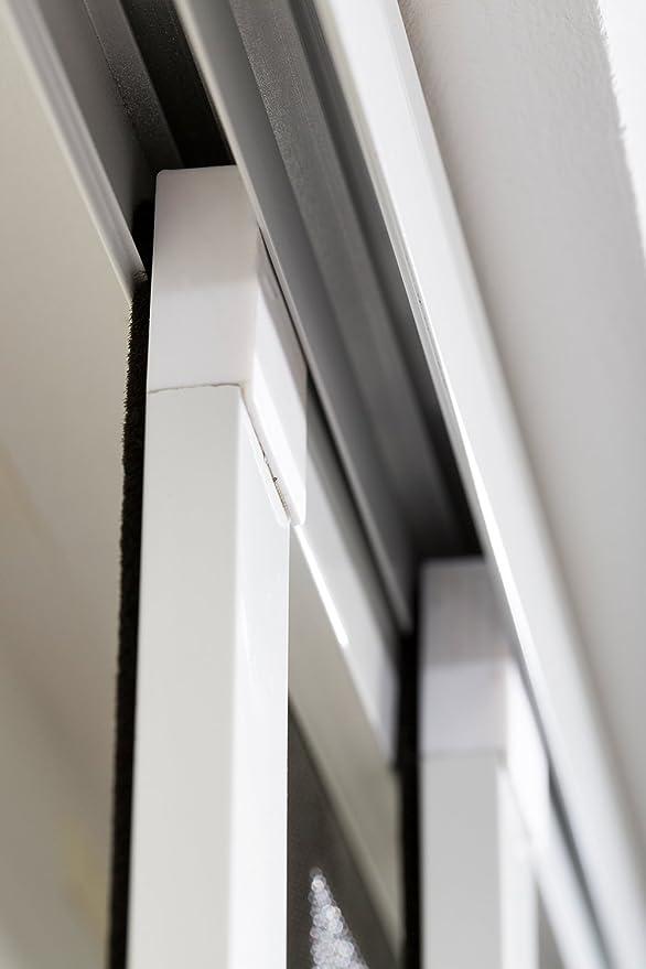 Protector insectos Puerta corredera doble Puerta corrediza Mosquitera 230 x 240 cm nuevo emb. orig. - Marrón: Amazon.es: Bricolaje y herramientas