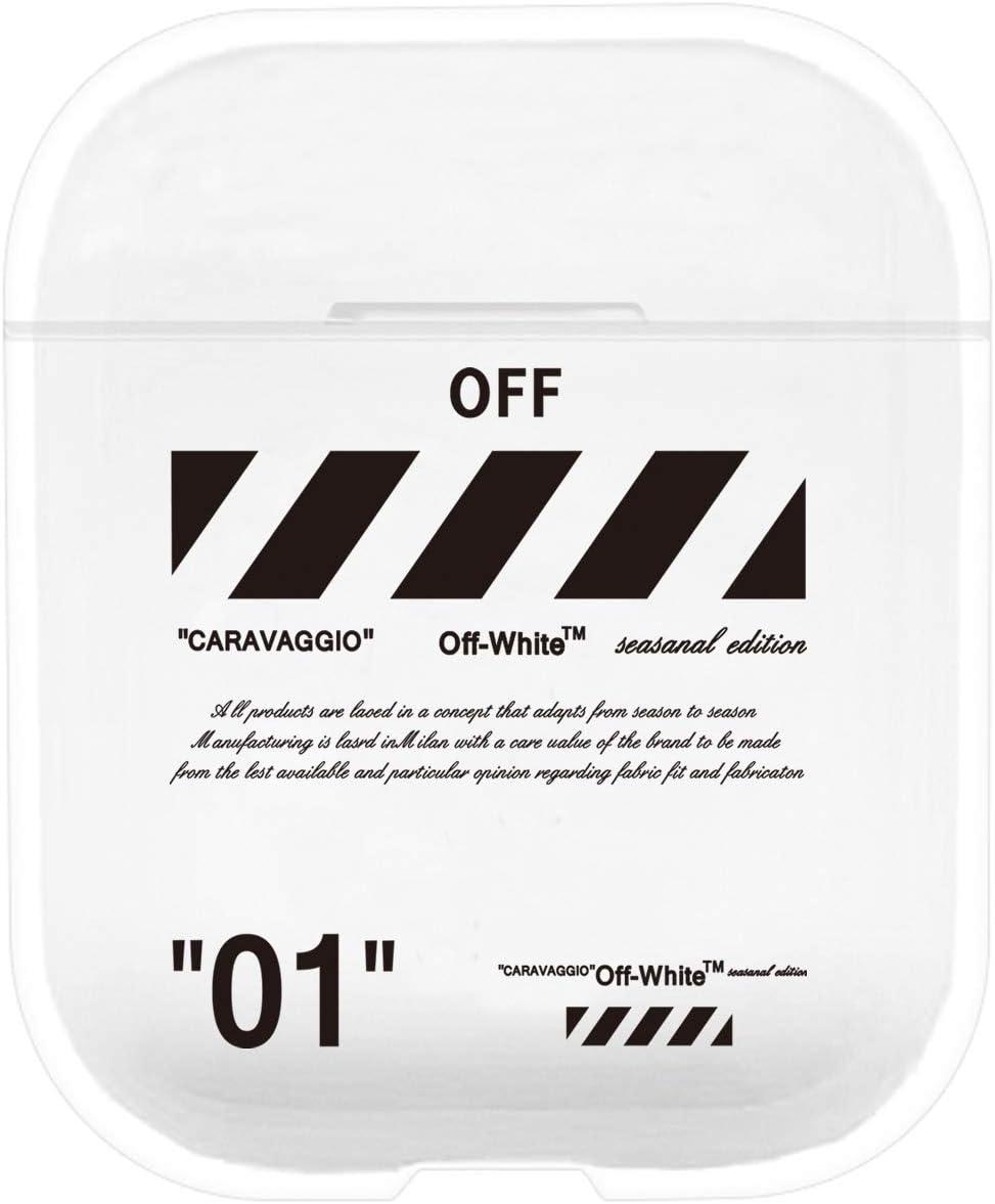 Funda para AirPods Compatible con Apple AirPods 1 y 2 de Silicona Resistente al Polvo y a los Golpes para iPhone X//XS//XR//X MAX7//7P//8//8P Transparente 01 a Prueba de Golpes