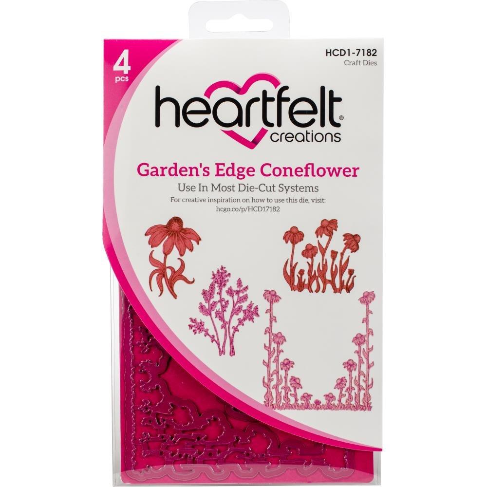 Bundle Heartfelt Creations Garden's Edge Coneflower Dies & Stamps Set, HCD1-7182+HCPC3828