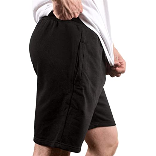 678410a37 ANKOLA STORE Men's Fitted Shorts, Tight Lifting Shorts with Pockets Short  Pants for Bodybuilding Workout