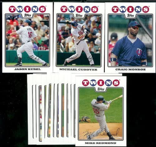 B00AWD97LS Minnesota Twins Baseball Cards - 6 Years Of Topps Team Sets 2004,2005,2006,2007, 2008 & 2009 - Includes ALL regular issue Topps Cards For 6 Years - Includes Stars, Rookie Cards & More! 6157tc9hgtL