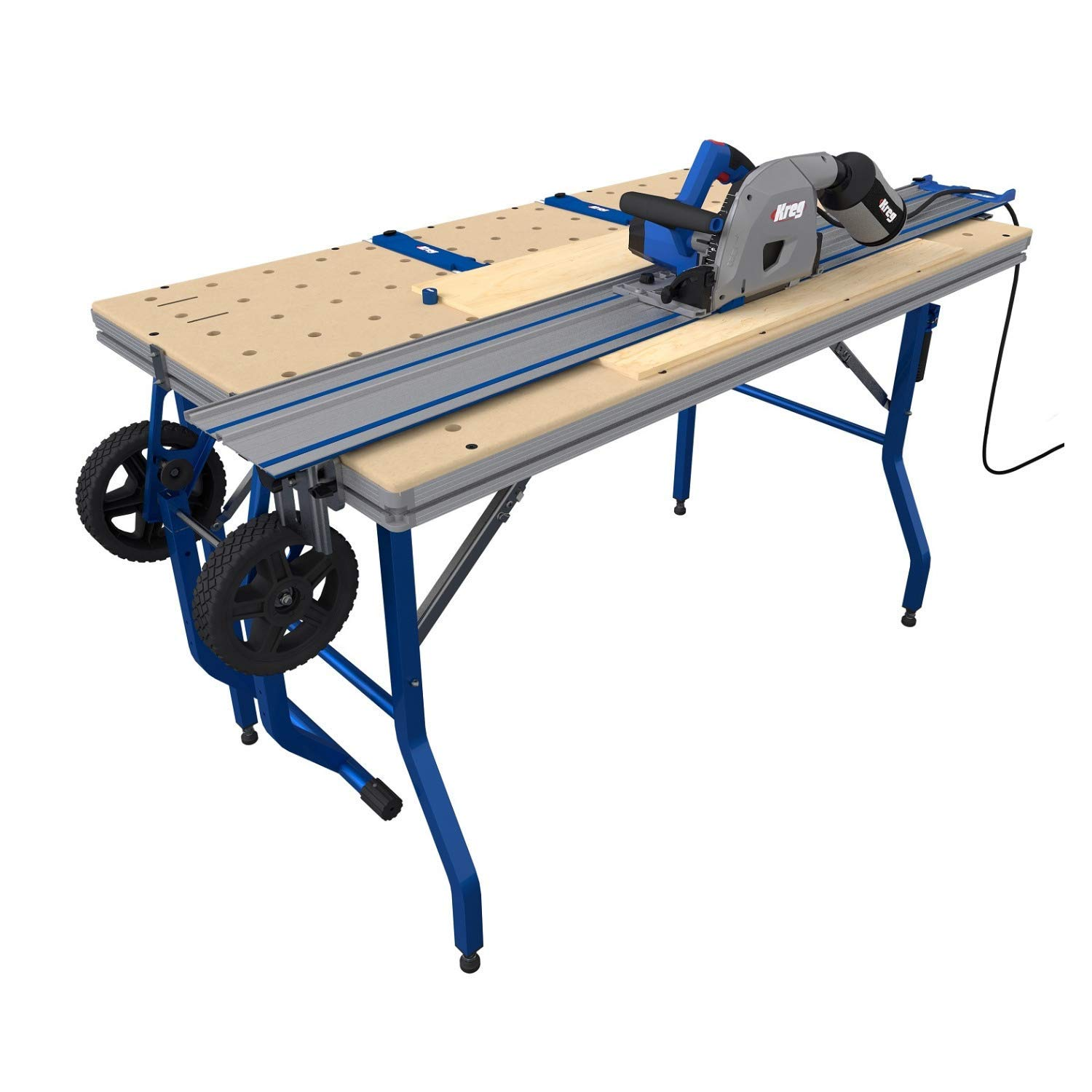 Kreg ACS3000 Adaptive Cutting System Plunge Saw & 62'' Guide Track With Project Table by KREG