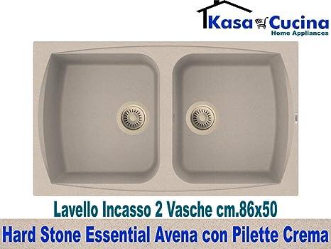 Lavello incasso cucina Hard Stone Essential Fragranite 2 Vasche cm ...