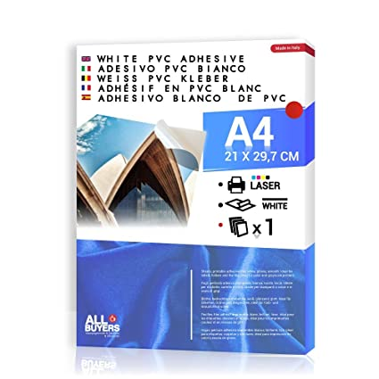Papel Adhesivo Blanca PVC polipropileno A4 (21 cm X 29,7 cm ...