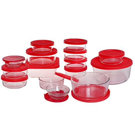 Amazoncom Glass Food Storage Containers with Airtight Locking Lids