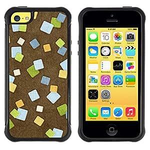 LASTONE PHONE CASE / Suave Silicona Caso Carcasa de Caucho Funda para Apple Iphone 5C / Design Post It