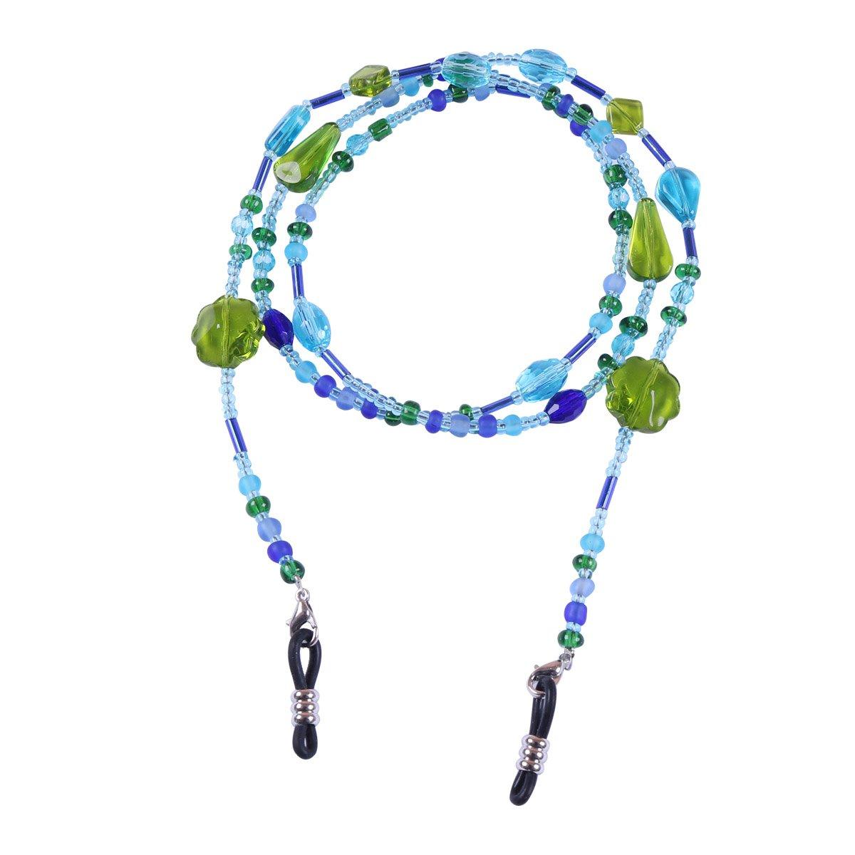 CHICTRY Beads Eyeglass Chain Holder Women Sunglass Eyewear Strap Lanyard Holder Cords Necklace Blue One Size