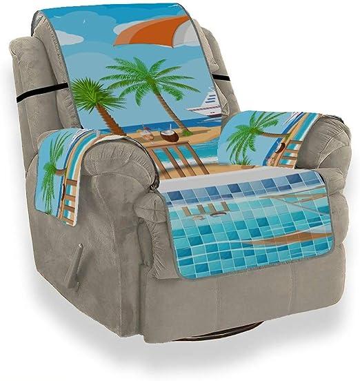 JEOLVP Piscina Escalera Sombrilla Tumbona de Madera Silla Individual Funda de sofá Funda de sofá Sofá Cojines de sofá Protector de Muebles para Mascotas, niños, Gatos, sofá: Amazon.es: Hogar