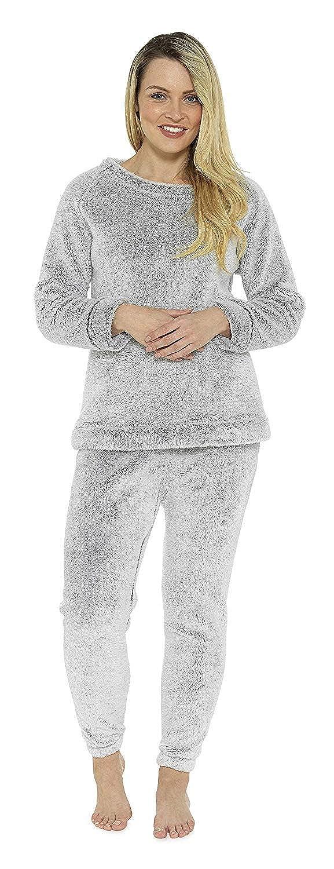 Ganzk/örperanzug Pyjama Damen M/ädchen Lang Geschenk f/ür Frauen Geburtstag Weihnachten CityComfort Schlafanz/üge Damen Lang Fleece Damen Zweiteiliger Schlafanzug
