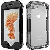 Muka iPhone 7/6/6s/7plus/6plus/6s plus 用 完全防水ケース ダイビング 海 プール 防塵 耐衝撃 防雪 落 下防止IP68 指紋認証対応 全面保護 スマホケース ネックストラップ付 お風呂 防水ケース