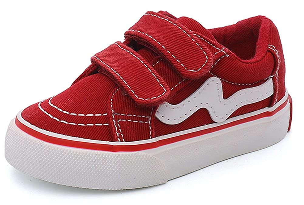InStar Kids Fashion Hook and Loop Strap Antiskid Sneakers Shoes